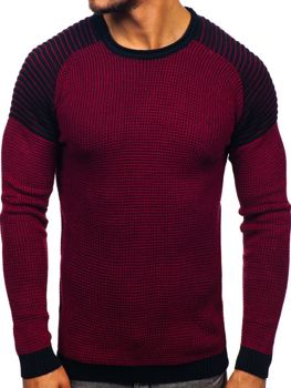 Men's Jumper Claret-Navy Blue Bolf 0004