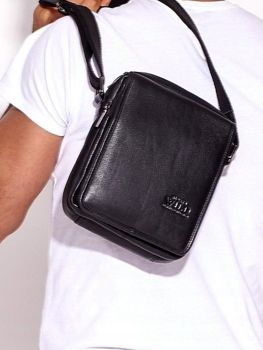 Men's Leather Bag Black 3007