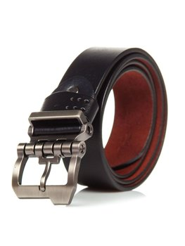 Men's Leather Belt Black Bolf P018