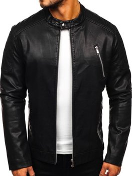 Men's Leather Jacket Black Bolf 1107