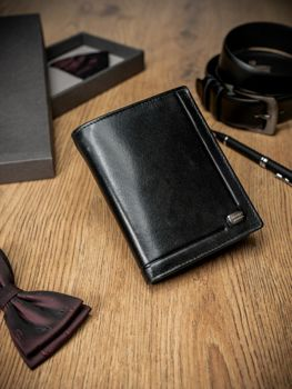 Men's Leather Wallet Black 170