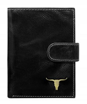 Men's Leather Wallet Black 50