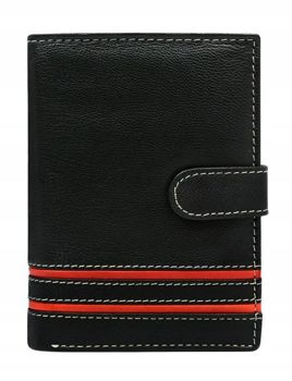 Men's Leather Wallet Red 583