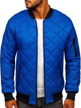 Men's Lightweight Bomber Jacket Blue Bolf MY-01