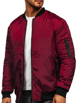 Men's Lightweight Bomber Jacket Claret Bolf AK95