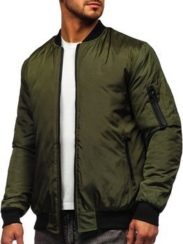 Men's Lightweight Bomber Jacket Green Bolf AK95