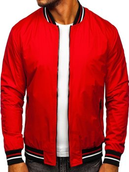 Men's Lightweight Bomber Jacket Red Bolf 6523