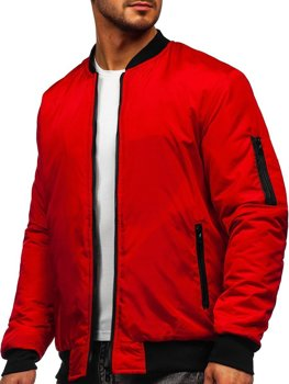 Men's Lightweight Bomber Jacket Red Bolf AK95