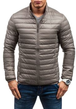 Men's Lightweight Down Jacket Beige Bolf 1202