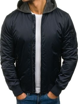 Men's Lightweight Down Jacket  Navy Blue Bolf 57na