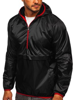 Men's Lightweight Hooded Sport Jacket Black Bolf 5061
