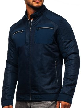 Men's Lightweight Jacket Navy Blue Bolf 1702