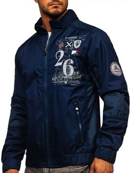 Men's Lightweight Jacket Navy Blue Bolf 742