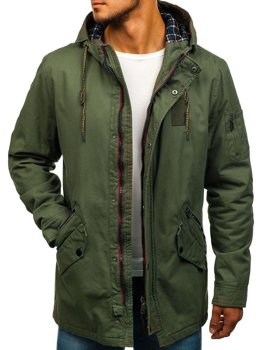 Men's Lightweight Parka Jacket Green Bolf 1819