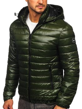 Men's Lightweight Quilted Jacket Green Bolf 6794