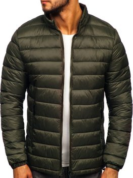 Men's Lightweight Quilted Jacket Khaki Bolf 1119