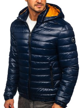 Men's Lightweight Quilted Jacket Navy Blue Bolf 6794
