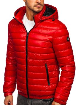 Men's Lightweight Quilted Jacket Red Bolf 6794