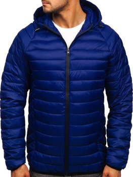 Men's Lightweight Quilted Jacket Royal Blue Bolf 13021