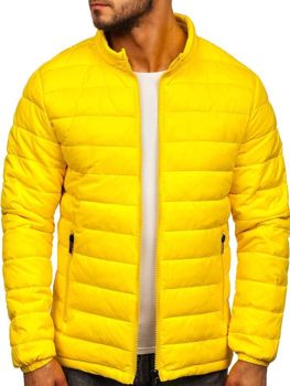 Men's Lightweight Quilted Jacket Yellow Bolf 1119