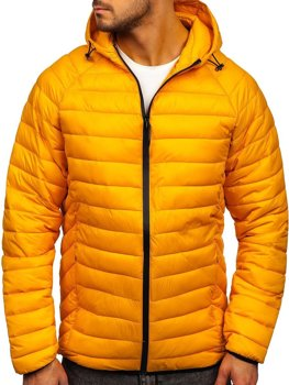 Men's Lightweight Quilted Jacket Yellow Bolf 13021