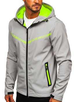 Men's Lightweight Softshell Jacket Grey Bolf KS2181