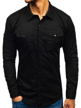Men's Long Sleeve Shirt Black Bolf 2058-1