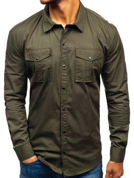 Men's Long Sleeve Shirt Khaki Bolf 2058-1