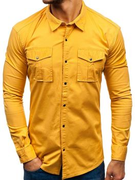 Men's Long Sleeve Shirt Mustard Bolf 2058-1