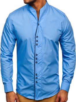 Men's Long Sleeve Shirt Sky Blue Bolf 5720