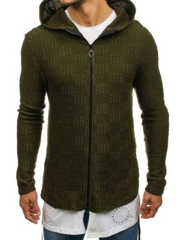 Men's Longline Zip Jumper Green Bolf 171547