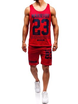 Men's Outfit T-shirt + Shorts Bolf Red 100778