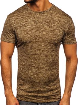 Men's Plain Gym T-shirt Brown Bolf S01