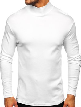 Men's Plain Half Turtleneck Jumper White Bolf 145348