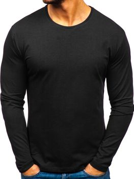 Men's Plain Long Sleeve Top Black Bolf 172007