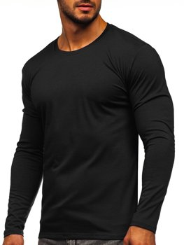 Men's Plain Long Sleeve Top Black Bolf 2088L