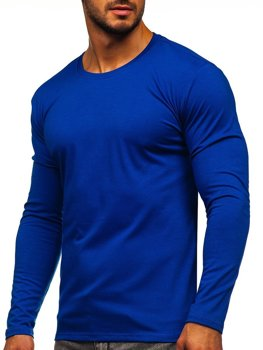 Men's Plain Long Sleeve Top Cobalt Bolf 2088L