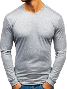 Men's Plain Long Sleeve Top Grey Bolf 145359