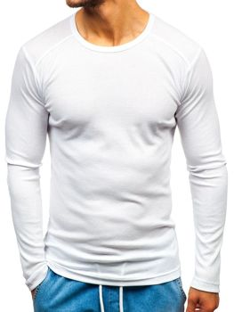 Men's Plain Long Sleeve Top White Bolf C10038