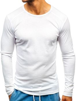 Men's Plain Long Sleeve Top White Bolf C10046