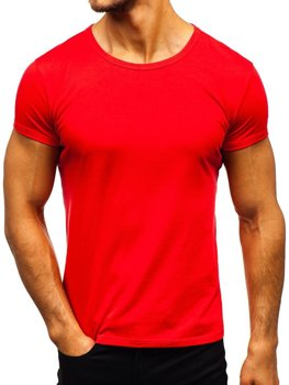 Men's Plain T-shirt Red Bolf AK999A