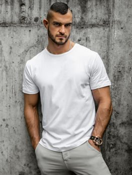 Men's Plain T-shirt White Bolf T1279