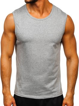 Men's Plain Tank Top Grey Bolf 99001