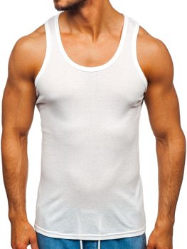 Men's Plain Tank Top White Bolf NB001