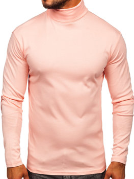 Men's Plain Turtleneck Jumper Salmon Bolf 145347