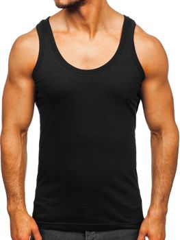 Men's Plain Undershirt Black Bolf 0001