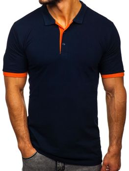 Men's Polo Shirt Navy Blue Bolf 171222-1