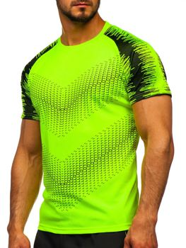Men's Printed Gym T-shirt Celadon Bolf KS2061