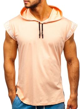 Men's Printed Hooded Tank Top Salmon Bolf 19100