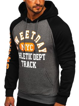 Men's Printed Hoodie Graphite Bolf KS2124